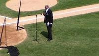 Frank Thomas at his number retirement ceremony